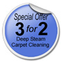 Special offer 3 for 2 carpet cleaning.
